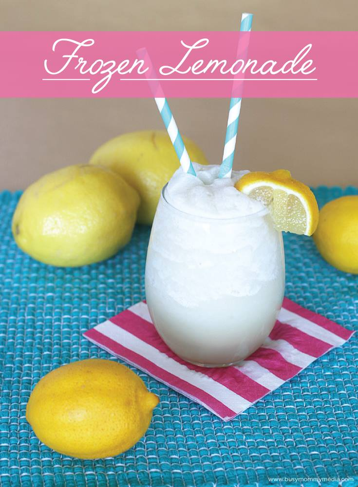 Homemade Frozen Lemonade on BusyMommyMedia.com