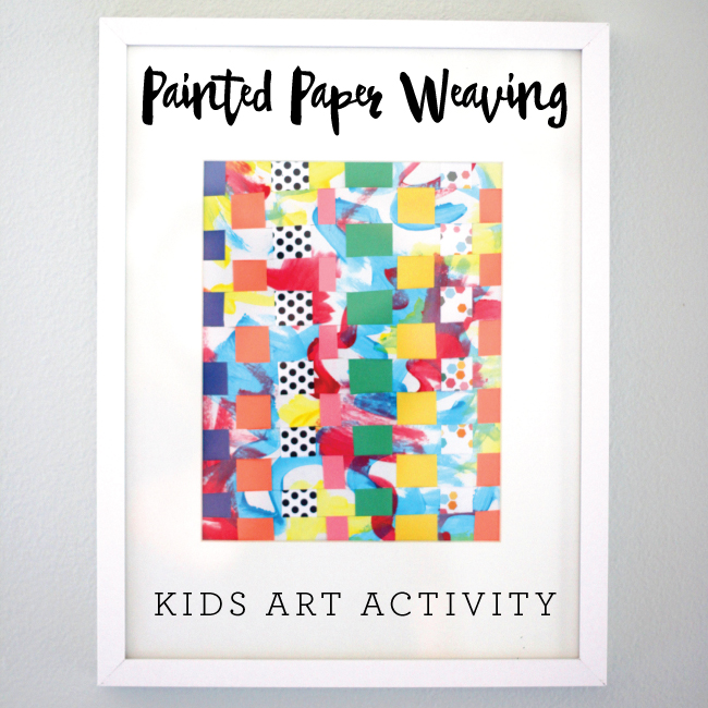 Painted Paper Weaving on www.busymommymedia.com