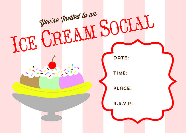 this free printable ice cream social invitation can get you started on your way to throwing the perfect summer ice cream social