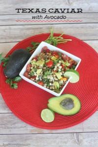 Texas Caviar with Avocado on BusyMommyMedia.com