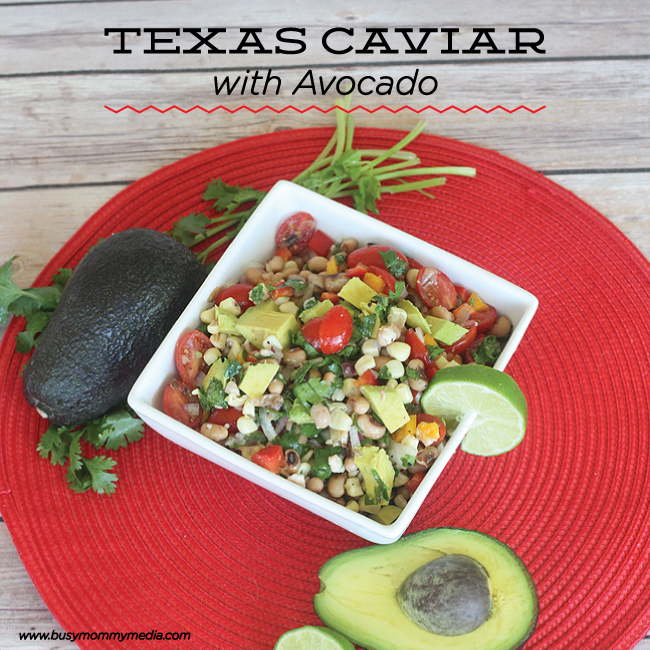 Texas Caviar with Avocado on BusyMommyMedia.com