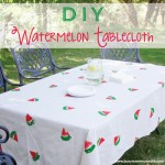 Diy Watermelon Tablecloth on www.busymommymedia.com