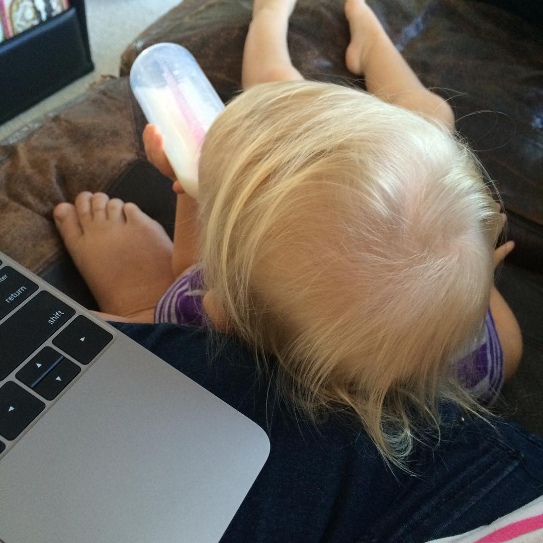 Love cuddles while I work twins twinb babiesofinstagram wahm workathomemomhellip
