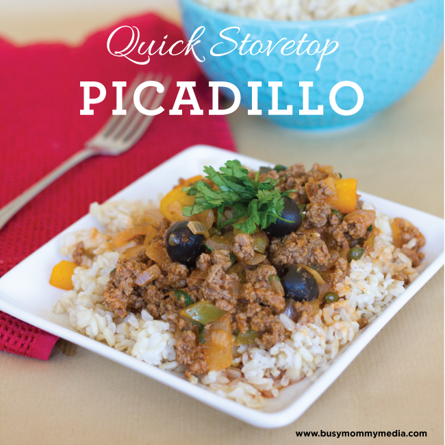 Quick Stovetop Picadillo | This is one of our favorite weeknight meals! | BusyMommyMedia.com