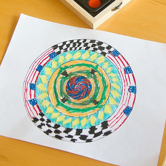 I love openended art projects for kids This simple patternhellip