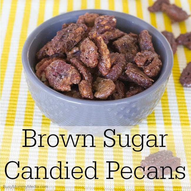Brown Sugar Candied Pecans on BusyMommyMedia.com