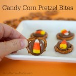 Candy Corn Pretzel Bites on BusyMommyMedia.com | This is such a fun Halloween treat!