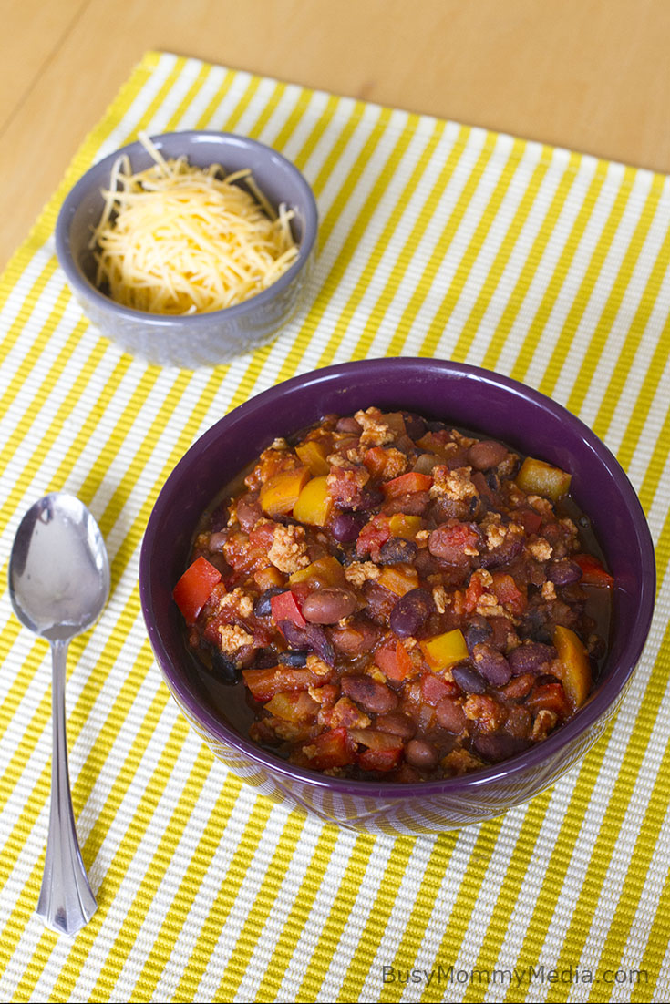 Quick and Healthy Turkey Chili on BusyMommyMedia.com