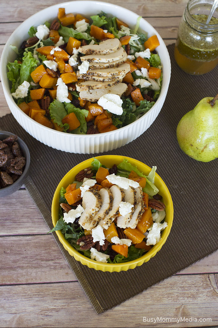 Roasted Butternut Squash and Pear Salad with Candied Pecans
