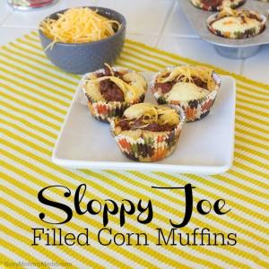 Sloppy Joe Filled Corn Muffins