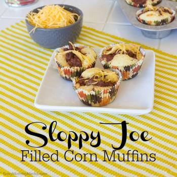 Sloppy Joe Filled Corn Muffins on BusyMommyMedia.com