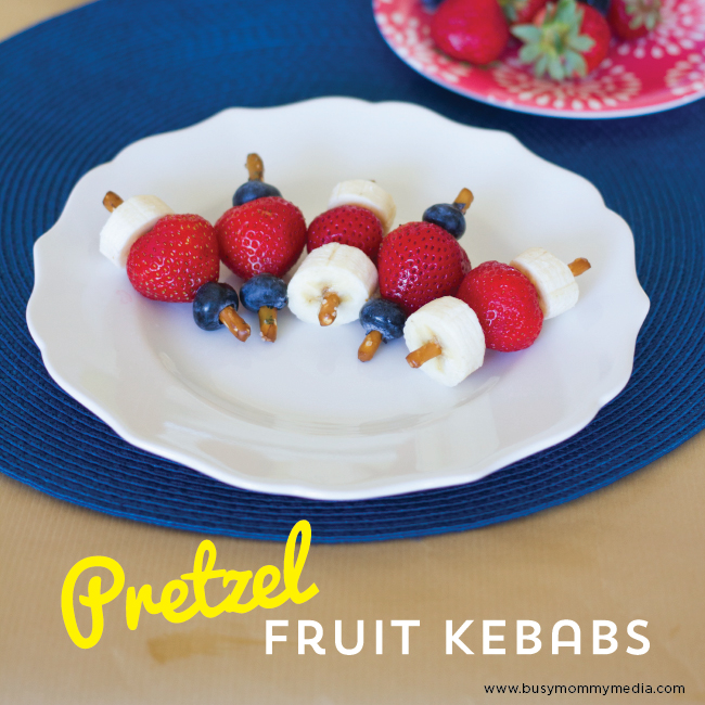 Pretzel Fruit Kebabs on BusyMommyMedia.com