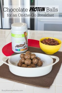 Chocolate Protein Balls for an On-the-Go Breakfast