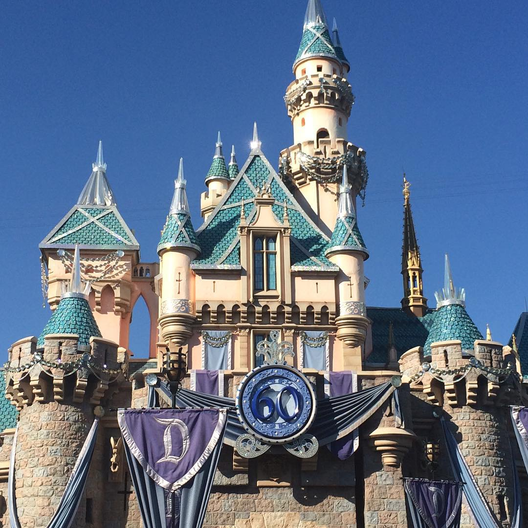 Sleeping Beautys castle is all decked out for disneyland60 MyPrintlyMoms