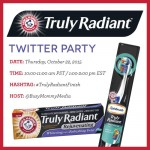 Join us on Thursday October 22, at 1:00 pm ET for the #TrulyRadiantFinish Twitter Party sponsored by Arm & Hammer Truly Radiant!
