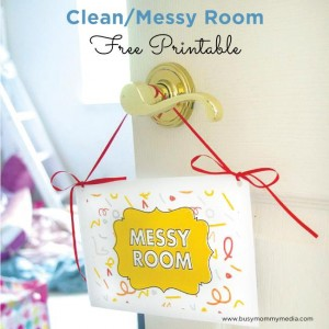 Free Printable: Clean/Messy Room Sign