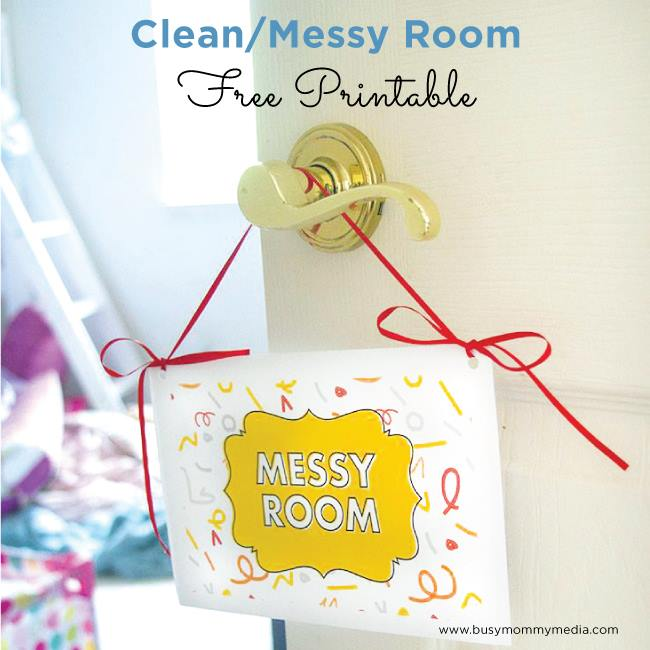 Free Printable: Clean/Messy Room Sign from BusyMommyMedia.com | This is such a great way to get kids excited about keeping their room clean!