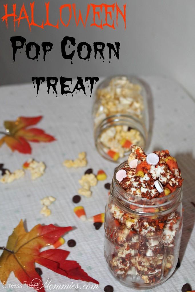 Halloween pop corn treat
