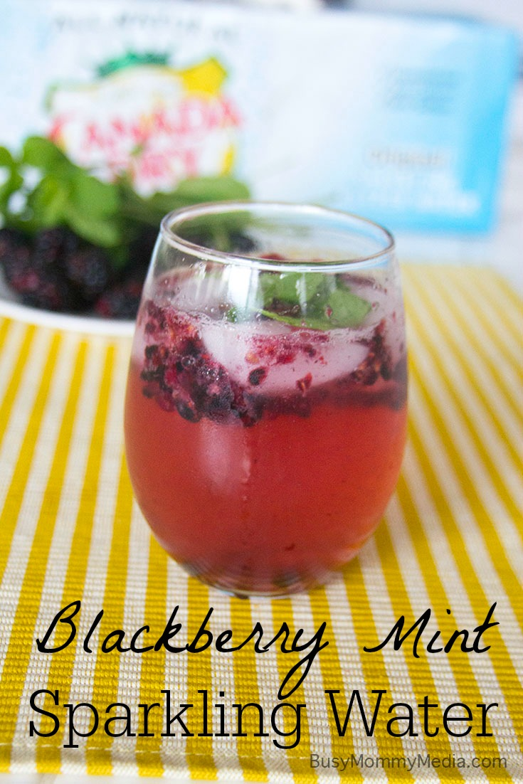 Blackberry Mint Sparkling Water on BusyMommyMedia.com