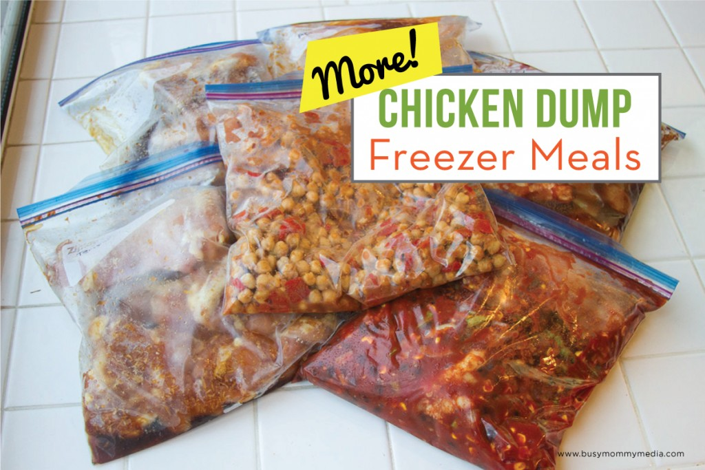 MORE Chicken Dump Freezer Meals - Cook 7 meals in an hour with this freezer meal plan on BusyMommyMedia.com