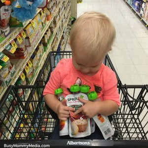 Having one-on-one time with twins at the store
