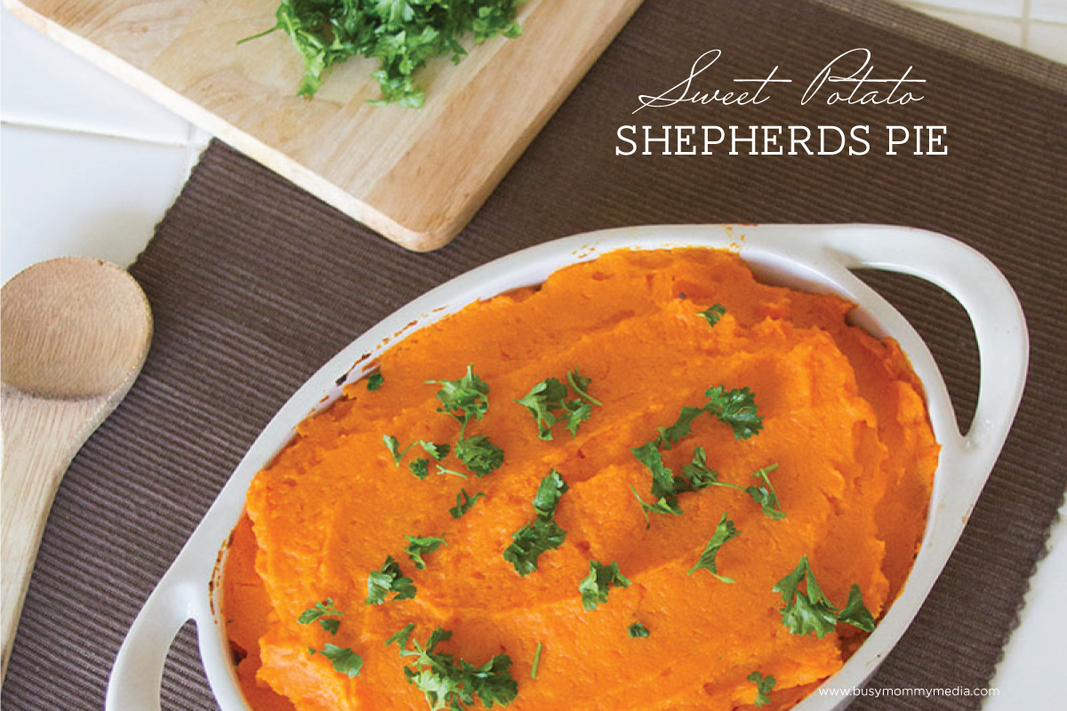 Sweet Potato Shepherd's Pie on BusyMommyMedia.com