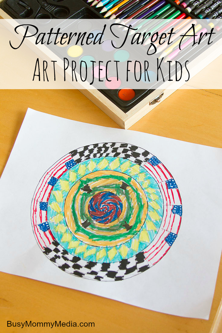 Patterned Target Art Project for Kids