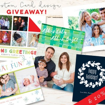 Custom Holiday Card Giveaway