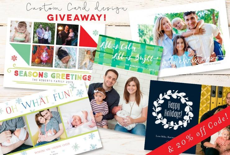 Custom Holiday Card Giveaway