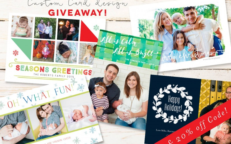 Custom Card Design Giveaway from Sugar and Ink Designs