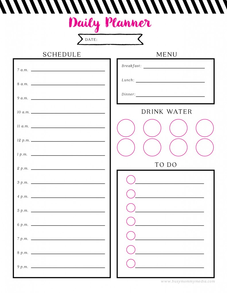 Fabulous Free Printable Daily Planner @AO52