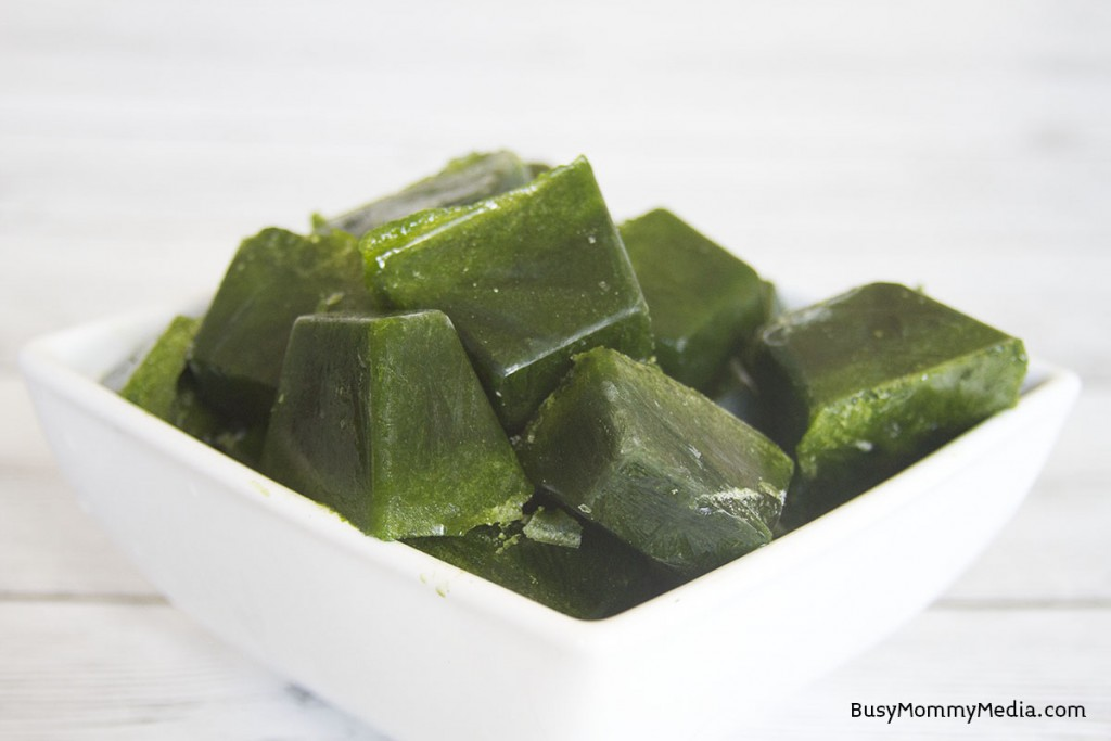 Green Smoothie Cubes - This is the best green smoothie shortcut!