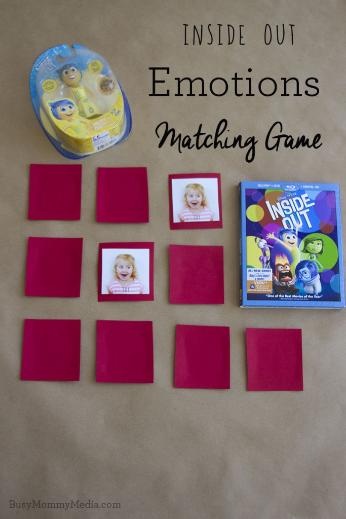 Inside Out Emotions Matching Game