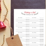 Printable Christmas Card List on BusyMommyMedia.com