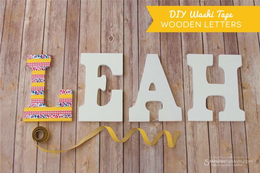 DIY Washi Tape Wooden Letters