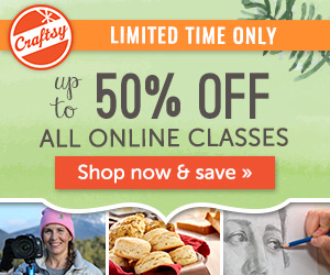 Online Classes at Craftsy are 50% off for a limited time!