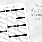 Free Printable Grocery Planner