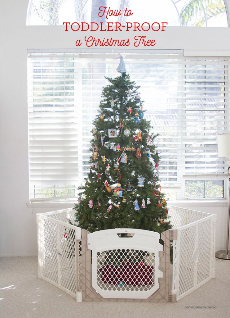 Toddler Proof Christmas Tree.How To Toddler Proof A Christmas Tree