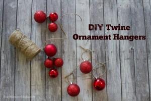 DIY Twine Ornament Hangers