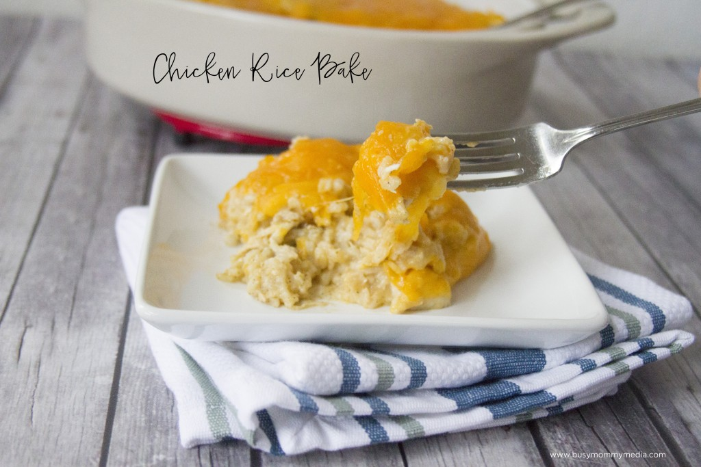 Chicken Rice Bake | This is the ultimate cheesy comfort food!