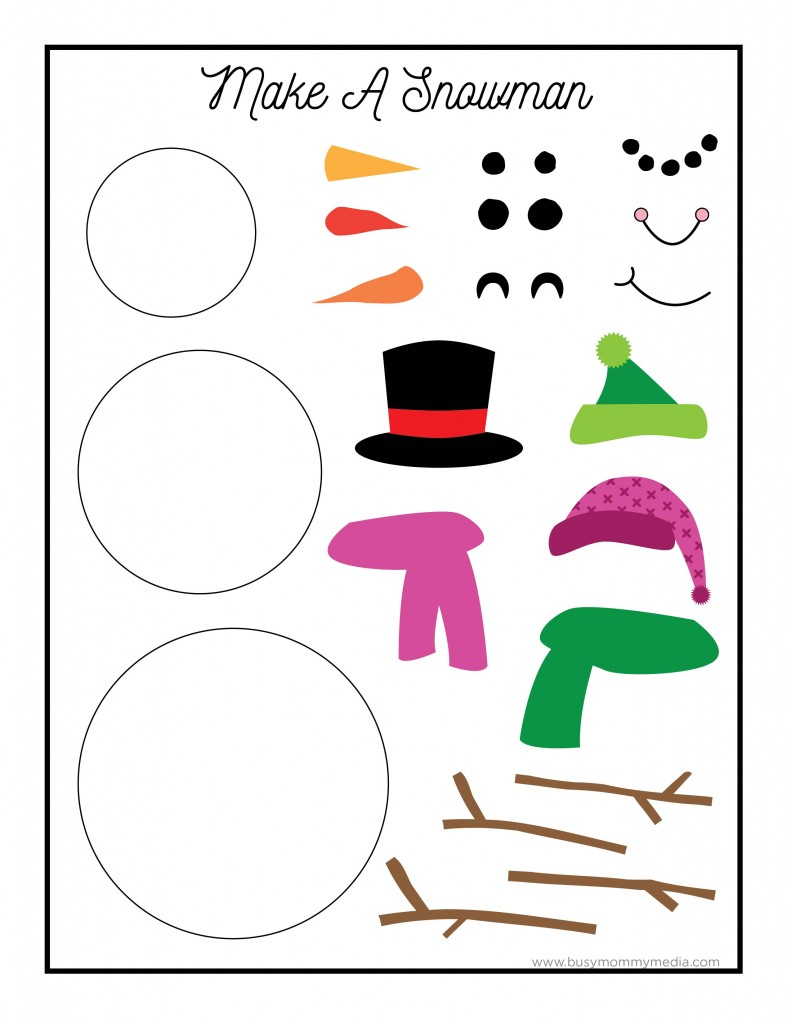 Punchy image in snowman parts printable