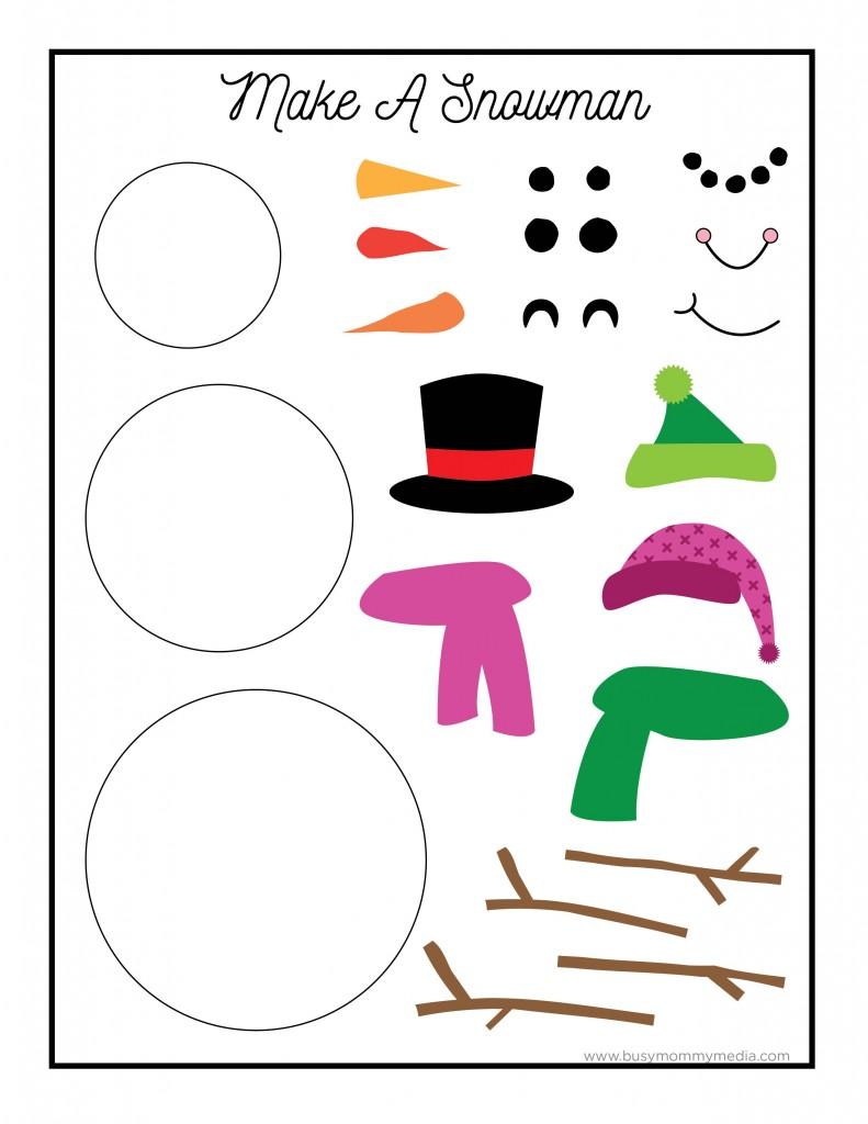 Printable Snowman Craft on BusyMommyMedia.com
