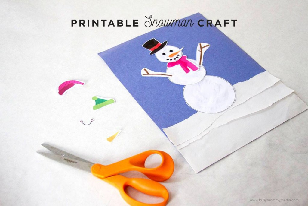 image regarding Printable Snowman Picture known as Printable Snowman Craft