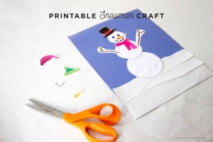 Printable Snowman Craft