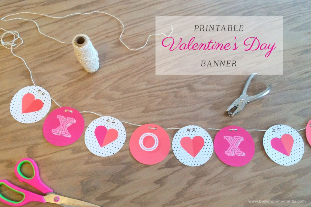 image about Valentine Banner Printable known as Printable Valentines Working day Banner