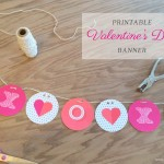 Printable Valentine's Day Banner on BusyMommyMedia.com