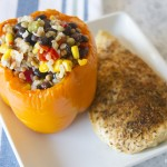Grilled Chicken with Lightening Fast Stuffed Peppers