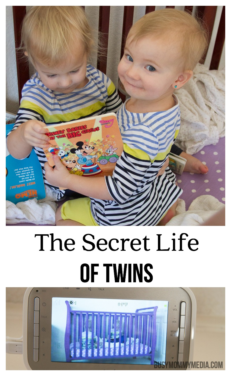The Secret Life of Twins | Check out this cute moment caught on a video baby monitor!