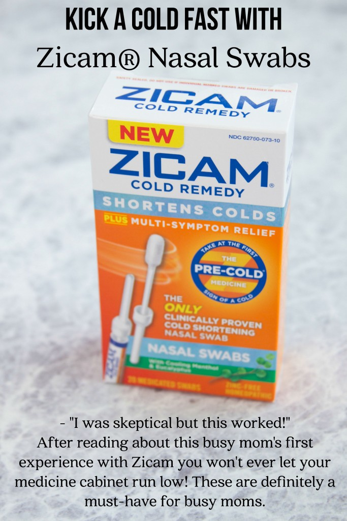 Shorten a cold with Zicam® Cold Remedy Nasal Swabs
