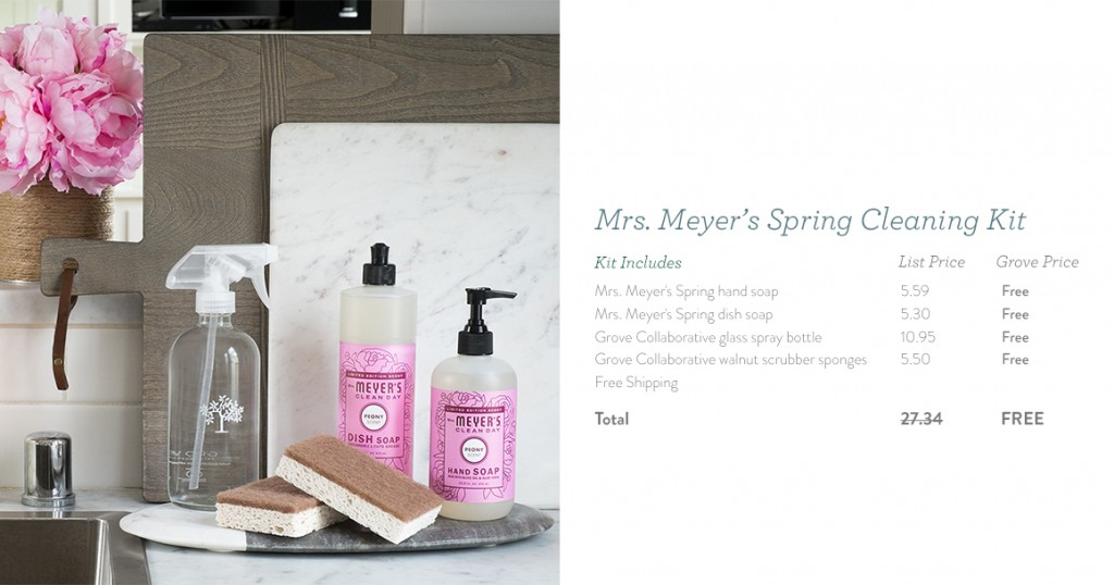 Mrs. Meyer's Spring Freebies from Grove Co.
